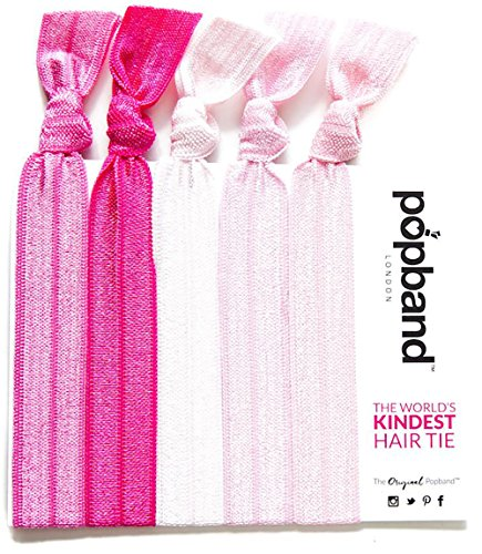 Popband Bubblegum Elastic Hair Tie Bands 5 Pack