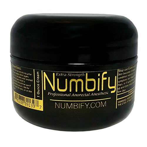 Numb-ify Numbing Cream 5% Lidocaine Extra Strength Anesthetic - Numb-ify's Strongest/Best Pain Relief & Numbing Cream (1 Oz)