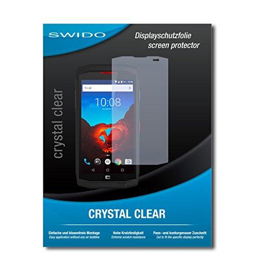 SWIDO Schutzfolie für Crosscall Trekker X3 [2 Stück] Kristall-Klar, Hoher Festigkeitgrad, Schutz vor Öl, Staub & Kratzer/Glasfolie, Bildschirmschutz, Bildschirmschutzfolie, Panzerglas-Folie