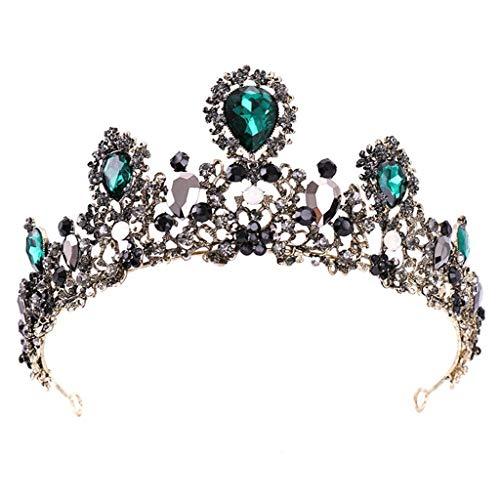 SJYDQ Crystal Crown Tiara Tiara for Las Mujeres Corona Nupcial Boda cumpleaños Prom Queen Pageant Accesorios for el Cabello
