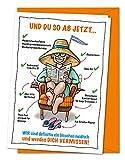 Freche XXL Karte Rente Kollegen - zum Abschied einer Kollegin in Ruhestand, Pensionierung, Altersteilzeit - sehr lustige Verabschiedungskarte für die künftige Rentnerin - inkl. Umschlag (DIN A4)