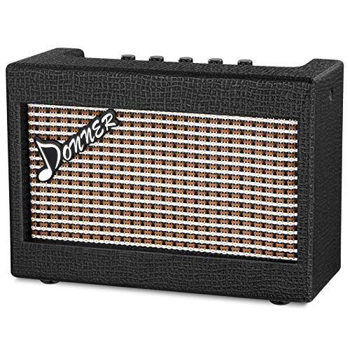 Donner Mini Electric Guitar Amp Wooden 3W Small Guitar Amplifier M-3 Desktop Practice...