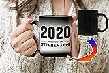 Writen by Stephen King 2020 Taza de cambio de color de temperatura mágica negra Café Té 330 ml...