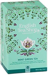 DEU English Tea Shop Bio-Grüntee mit Pfefferminze und grüner Minze - 1 x 20 Teebeutel 40 Gramm