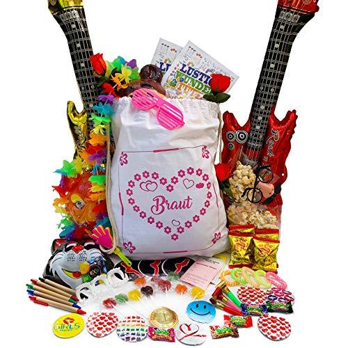 PartyStore24 Gym Bag Braut inkl. 70 Teile Füllung für Junggesellinnenabschied JGA