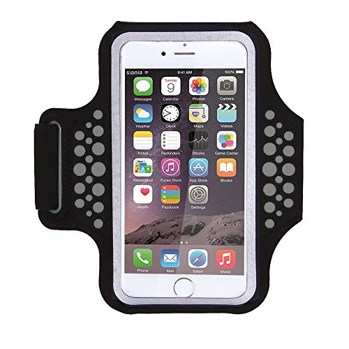 Triomph Armband for iPhone X, iPhone 8 Plus, 7 Plus, 6 Plus, 6s Plus, 6s iPod Galaxy S6, S6 Edge, S7 Edge Plus with Key Cards Money Holder, for Running, Sports, Jogging, Hiking, Biking (Black 5.8'')
