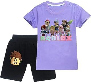 court 2PCS ROBLOX Enfants Garçons Décontracté Survêtement Tenue Ensemble été T-shirt en coton