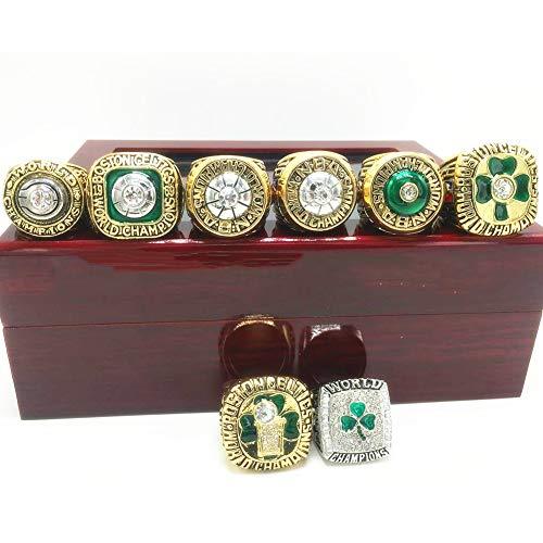 Fei Fei Anillo de Campeonato de 8 años de los NBA Celtics, Hombres Anillos De Campeonato 8pcs Champions Anillo Réplica para Aficionados Colección del Regalo del Recuerdo De Los Hombres,11