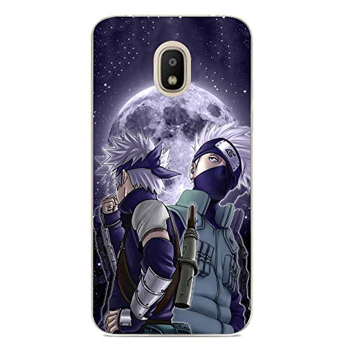 Soft Clear Case for Samsung Galaxy J7 2018-Naruto-Kakashi Anime 8 Anti-Yellowing Protective Stylish Silicone Shockproof Cover