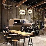 Fotomurales Photo Mural 3D Wallpaper European Style Retro Car Wall Painting Restaurant Cafe Bar Study Creative Decor Seda 300X210Cm