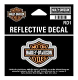 Harley-Davidson Reflective Bar & Shield Decal, XS Size - 1.75 x 1.3125 inch RD1