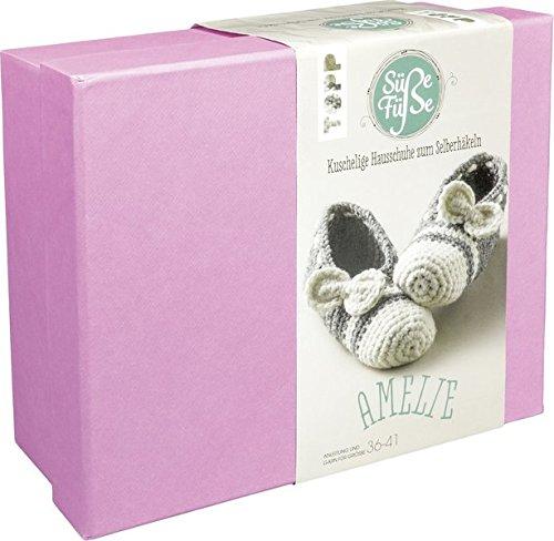 Süße Füße Hausschuh-Häkelset Amelie: Anleitung und Material für ein süßes Paar Hausschuhe zum Selberhäkeln