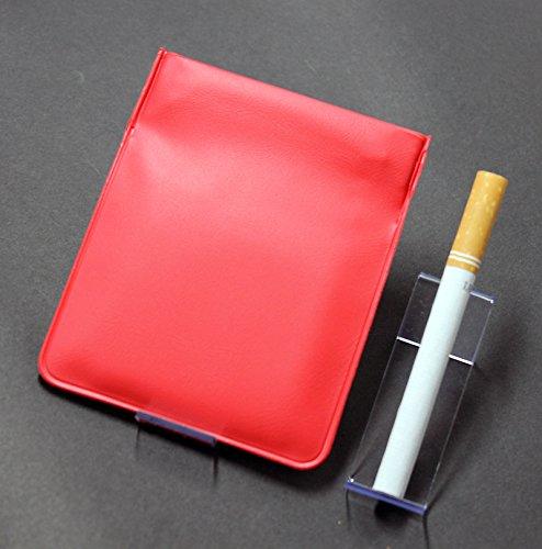 携帯灰皿-ティッシュや、飴の袋、ガムの処理、 ポケット灰皿 ちっポケレギュラーサイズ赤無地1個(薬ピルケース、小銭入れ、日本製)