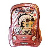 School Backpacks, Large, Spacious, for Young Girls and Teens, 17 inches Height, Pink and Silver Embroidered Brand Name, Superior Design and Quality, Light Weight, can be Easily Cleaned, By Betty Boop
