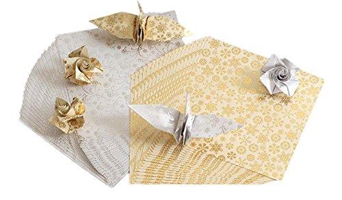 Xuxuou Faltpapier Origami Papier Faltblätter Bastelpapier FarbigesPapier Geeignet für Kunsthandwerk, Studenten, handgefertigt (40 Stück)