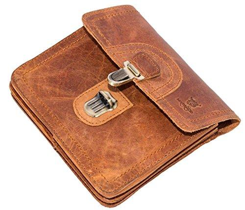 MATADOR Gürteltasche Herren Echt Leder Hüfttasche Malaga Vintage Braun Bauchtasche Damen Handtasche Ledertasche Handytasche