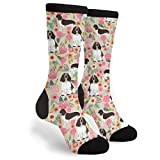 Packsjap English Springer Spaniel Men & Women Casual Cool Cute Crazy Funny Athletic Sport Colorful Fancy Novelty Graphic Crew Tube Socks