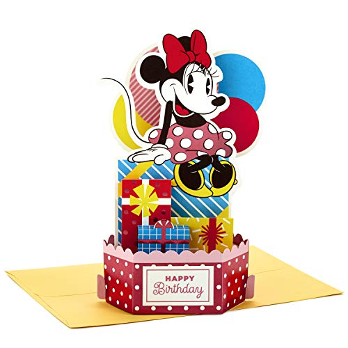 Hallmark Paper Wonder Minnie Mouse Pop Up Birthday Card (Extra Sweet)