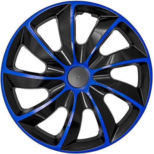"NRM Quad Radzierblende 15\"" 4 x Universal Radkappen Auto KFZ Fahrzeug 4er Set (Blau/Schwarz, 15\"")"