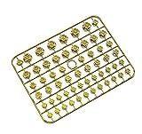 Tornillos Estilo de automóvil Tornillo de motocicleta Tornillo Tuercas Nueces Cubiertas Cubiertas Modificación Accesorios Motorbike Tornillo Protector Bolt CABE Tapa tornillos ( Color Name : Gold )