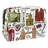 Bolsa de maquillaje para guitarra flamenca de verano, bolsa de 18,5 x 7,5 x 13 cm, bolsa de aseo, Multi-4, 18.5x7.5x13cm/7.3x3x5.1in,