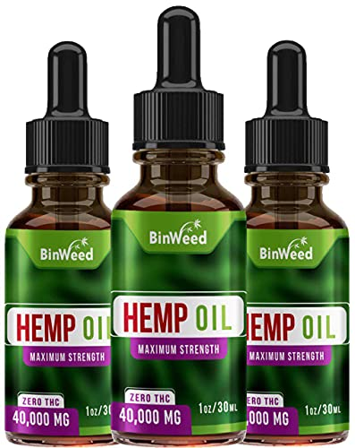 (3 Pack) Hemp Oil Extract (120,000MG) | Grown & Made in USA | Omega 3, 6, 9 for Better Skin, Hair & Nails | 3 Months Supply