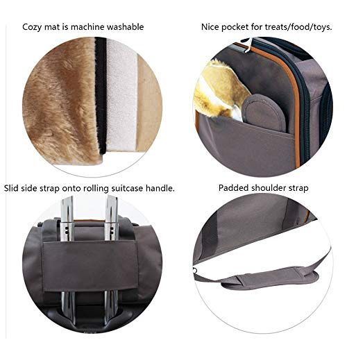Petpeppy.com The Original Airline Approved Expandable Pet Carrier by Pet Peppy- Two Side Expansion, Designed for Cats, Dogs, Kittens,Puppies - Extra Spacious Soft Sided Carrier! (Black)
