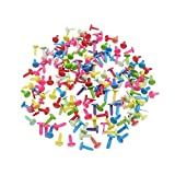 Paper Fasteners Metal Brads for Arts Scrapbooking Crafts DIY, 500 Pcs (Round Assorted Color 8x12mm)