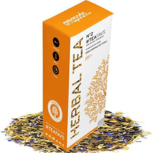 amapodo tisana miscela 80g sano e delizioso, ideale per la teiera, prodotta in Germania