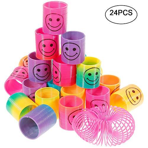 GOLDGE 24PCS Springs Magic Rainbow Lächeln Regenbogenkreis Regenbogen Strolche ,Puzzle Lernspielzeug, Mitgebsel, Kindergeburtstag, Spielzeug,Party