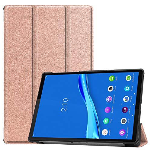 NUPO Hülle für Lenovo Tab M10 FHD Plus 10.3, Ultra Slim Cover Schutzhülle PU Lederhülle mit Standfunktion, Sleep Wake Up Funktion Kompatibel für Lenovo Tab M10 FHD Plus 10.3 TB-X606F, Roségold