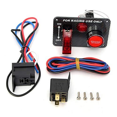 zhuzhu 12V Racing Carring Motor Start Push Button Toggle Townition Switch Panel LED Toggle