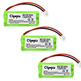 3 Pack Replacement Battery for Uniden DWX337 Cordless Phone (800mAh, 2.4V, NI-MH)