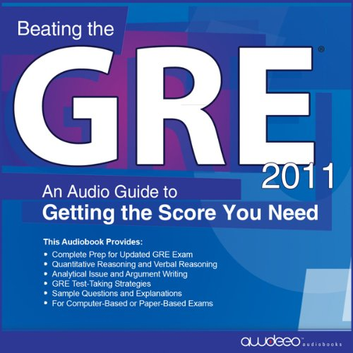 Beating the GRE 2011 audiobook cover art