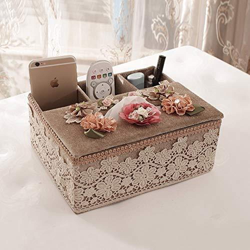 JJSFJH Cubierta de Caja de Tejido Rectangular de Perfume Creativo, toallero de Toalla de Papel de baño Decorativo, Deslizador Inferior (Color : L)