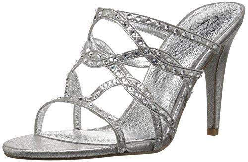 Adrianna Papell Women's Emma Heeled Sandal, Silver Sterling Metallic, 5.5 M US