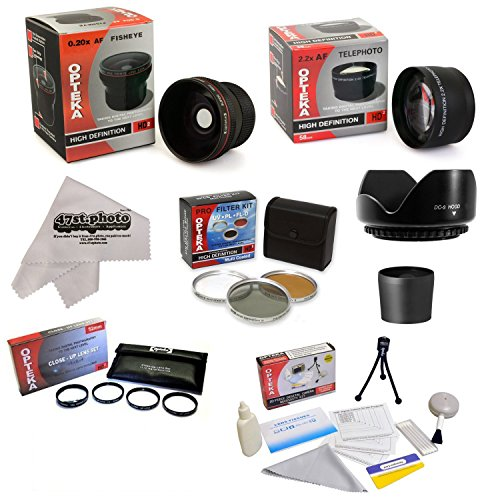 Nw Direct Micro Fiber Cleaning Cloth + 3 Piece Filter Kit Nikon COOLPIX L840 0.43X High Definition Super Wide Angle Lens Includes Lens Adapter