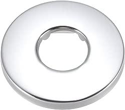 80 x 19 mm, acero inoxidable, para tubos de 21 mm Plato redondo Sourcingmap