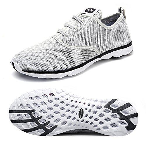 Dreamcity Men's Water Shoes Athletic Sport Lightweight Walking Shoes Grey