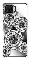 楽天モバイル OPPO A73 ハード ケース カバー YJ343 モノトーン 雪の結晶 魔方陣 素材クリア UV印刷
