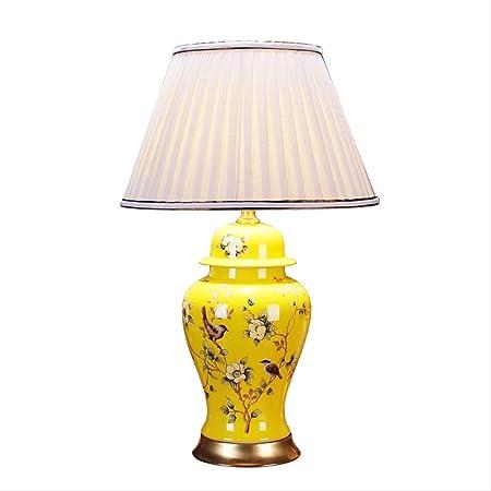 Ceramic Household Table Lamp New Chinese Style Flower And Bird Living Room Study Yellow Light Ceramic Porcelain Table Lamp High69cm Warm Light Amazon Co Uk Lighting