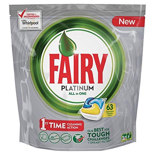 Fairy Platinum Spülmaschinentabs, Packung Zitrone 63 Pezzi