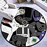 Alfombra redonda de 60 cm, antideslizante, para jugador, controlador de jugador, alfombra para puerta