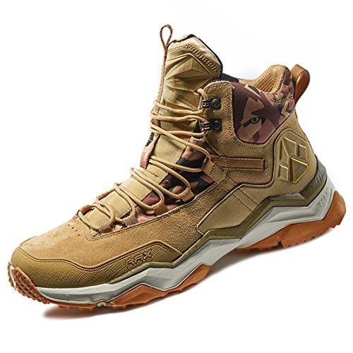 RAX Men's Wild Wolf Mid Venture Waterproof Lightweight Hiking Boots,Light Khaki,9 D(M) US