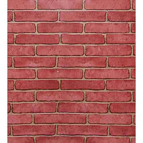 Rote Backstein Tapete Selbstklebende Tapete Vintage Backstein Tapeten Kontaktpapier zum Dekorieren Küche Schlafzimmer Wohnzimmer Abnehmbare Tapete Weihnachtsgeschenk 44 * 500cm