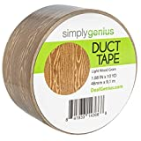 Simply Genius (Single Roll) Patterned Duct Tape Roll Craft Supplies for Kids Adults Colored Duct Tape Colors, Light Wood Grain
