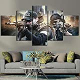 zysymx 5 Piezas Fantasy Games Art HD Picture Escape from Tarkov Poster Wall Sticker Soldier Paintings Canvas Art For Home Decor Wall Art20X35Cmx2 20X45Cmx2 20X55Cmx1X5 Stück