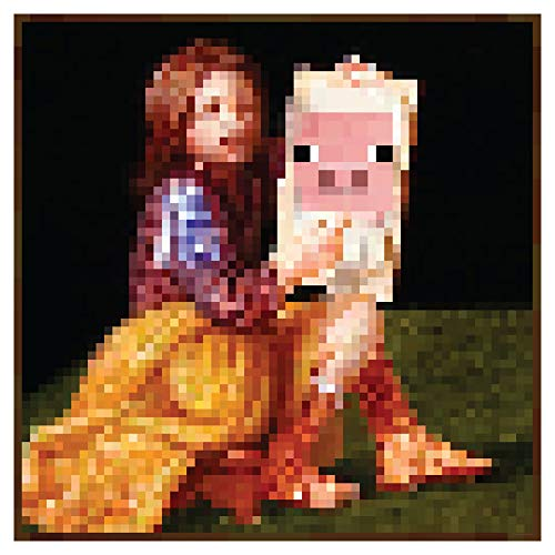 """JINX Minecraft Pig Portrait Wall Poster, 24"""" x 24"""", Actual In-Game Picture"""