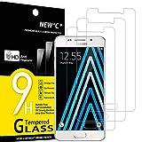 NEW'C 3 Stück, Schutzfolie Panzerglas für Samsung Galaxy A3 2016, Frei von Kratzern, 9H Festigkeit, HD Bildschirmschutzfolie, 0.33mm Ultra-klar, Ultrawiderstandsfähig