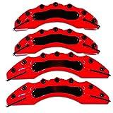 Cubierta Pinza Freno Disco 4 Fit For BMW E30 E36 E46 E39 E90 E91 E92 E60 F80 F82 M Cubiertas De Calibrador De Potencia (Color : Red)